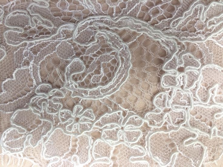 Blush with white lace