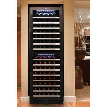 Vinotemp 155 Bottle Dual Zone Wine Cooler With Touch