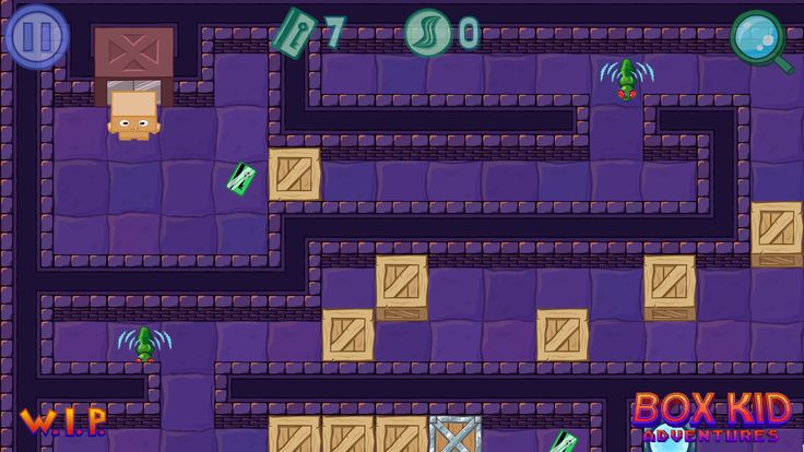Box Kid Adventures is a top-down puzzle game, with action elements. You play as Box Kid - a toy made of carboard - going through various levels, full of nasty enemies and brain challenging puzzles.  #videogames #puzzle #indie #cartoon