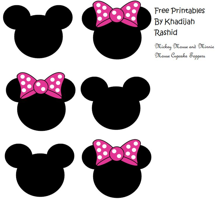 Mickey Mouse and Minnie Mouse cupcake toppers. I couldn't resist! You can't design printables and not make something Mickey and Minnie!