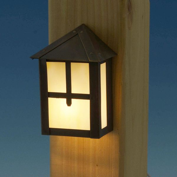 Golden Gate Led Rail Light By Highpoint Deck Lighting Led Deck Lighting Post Lighting Solar Deck Lights