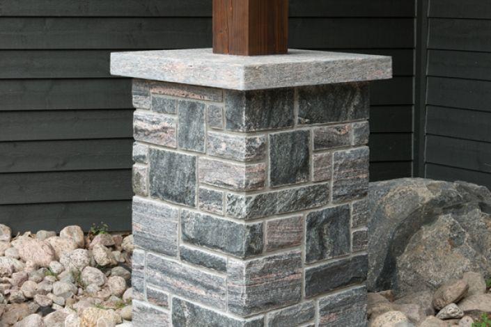 Construction Of A Stone Pillar : Best stone pillars ideas on pinterest front porch