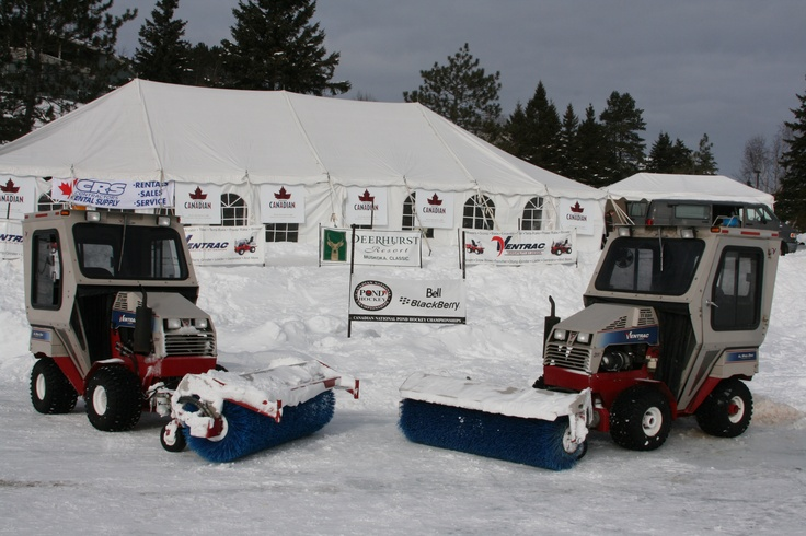 Ventrac clears the ice rinks for Canadian National Pond Hockey Tournament at Deerhurst Resort in Huntsville, Ontario