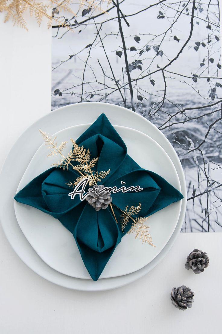 [Kreativ-Adventskalender:Türchen #16] Serviettenblumen falten         |          s i n n e n r a u s c h