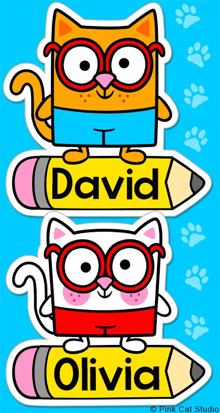 These fun boy and girl cats name tags and labels will look fantastic in your classroom! This set is so versatile because you can make any labels that you want with the included blank labels and editable PowerPoint file. These would make great bin or basket labels, job cards, flash cards and name tags. By Pink Cat Studio