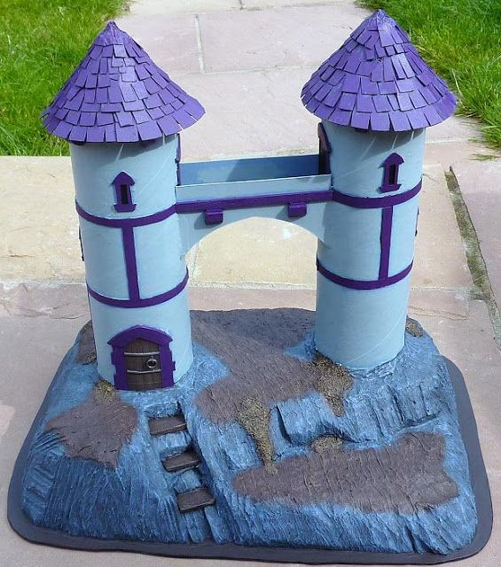 Make this fortress from two Pringles cans !!!  Recycle Reuse Renew Mother Earth Projects: How to make Fairy Houses from Recycled Materials