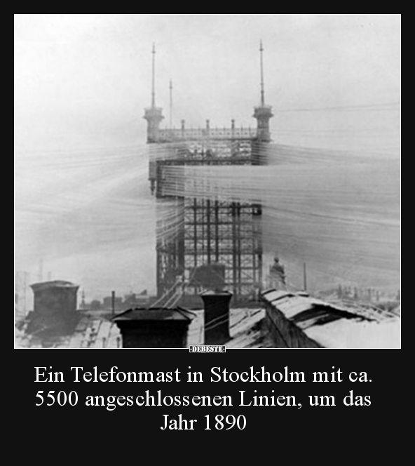 Ein Telefonmast in Stockholm mit ca. 5500 angeschl…