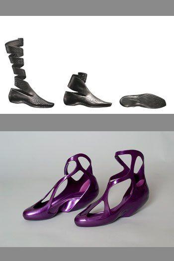 Shifting Paradigms Fashion + Technology Exhibition Kent State University » Blog Archive » Zaha Hadid, Lacoste, Melissa Shoes, 2008, 09