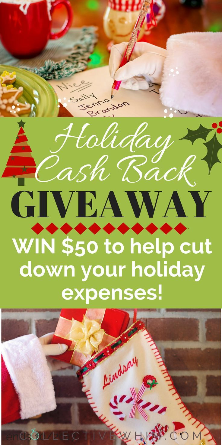 Could you use $50 this holiday season? Sure you could! Enter to WIN $50 in cash to help pay for your Christmas expenses this year! Holiday budget, Christmas budget, Sweepstakes, free money, win cash, contest, giveaway, sweepstakes, cash back, save money. Ends 01/31/2018