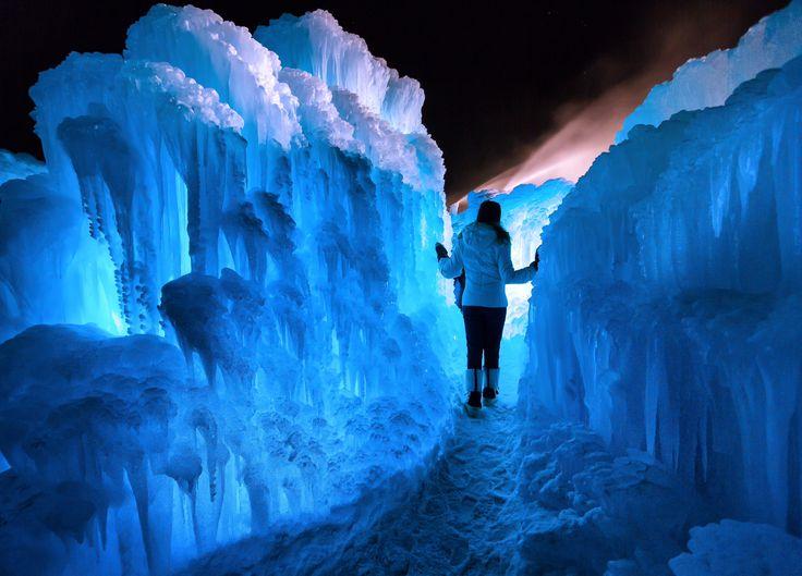 Ice Castles, Stratton Mountain, Sun Bowl, Vermont. January 2015.