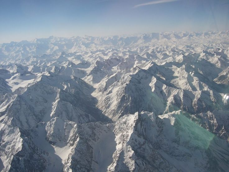 Above Pamir Mountains, Gorno-Badakhshan, Tajikistan by Peter G