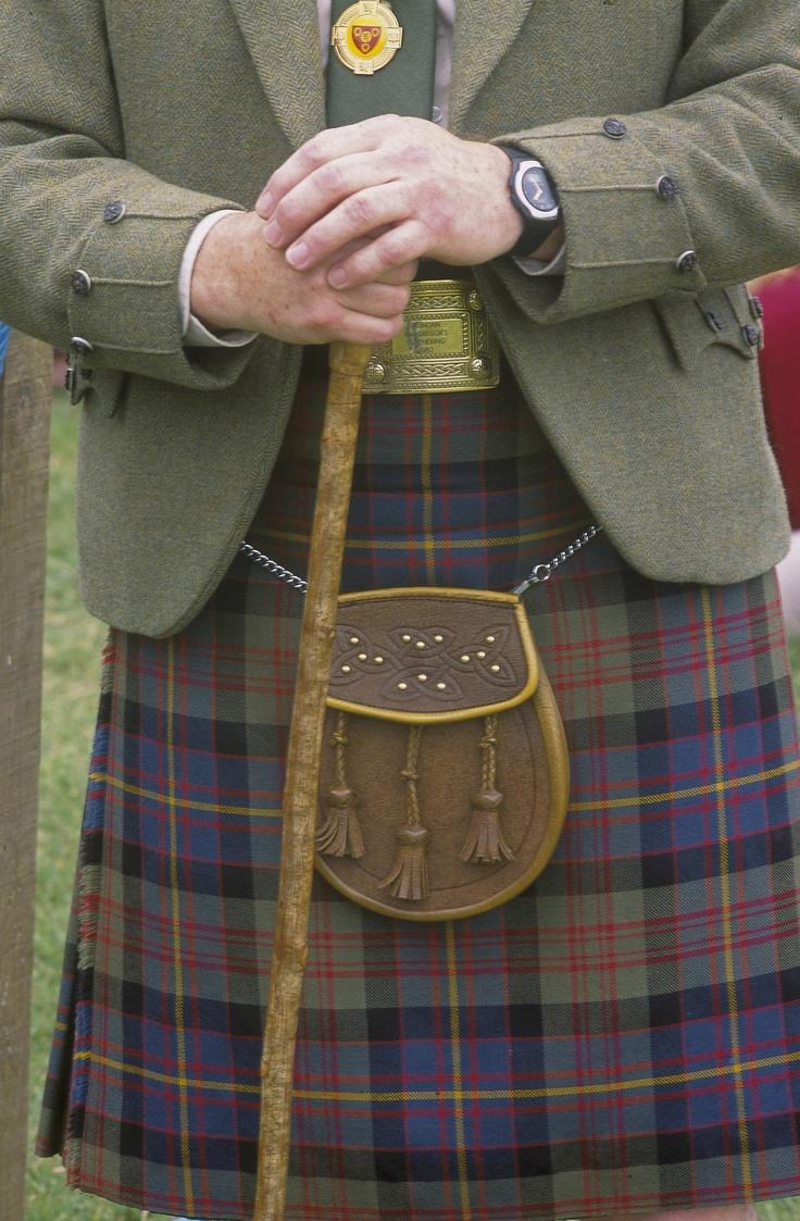 Scottish tartan kilt at Highland Games