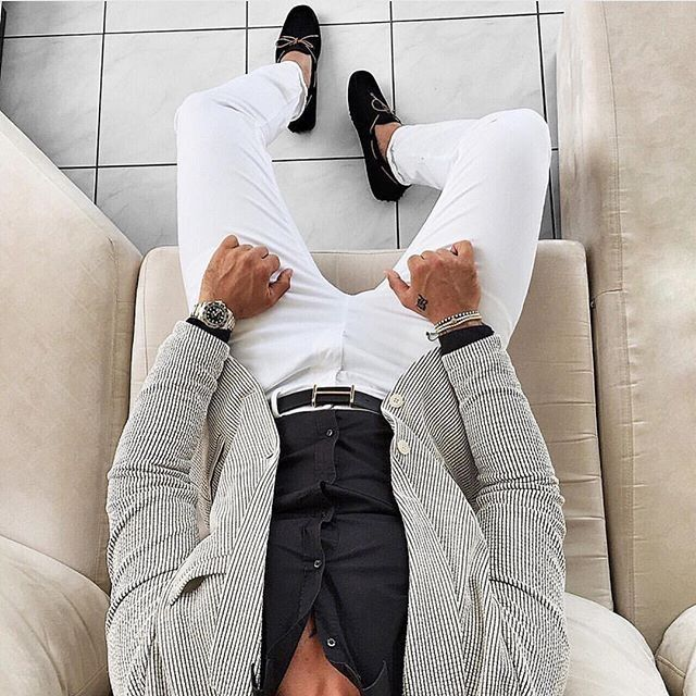 Suit style from a different perspective.                              …