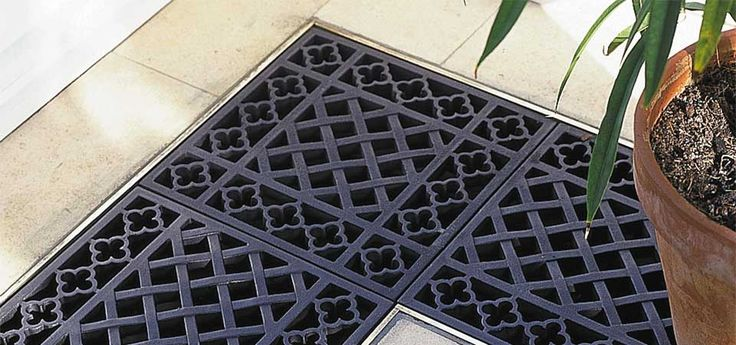 Close Up Of Floor Grilles
