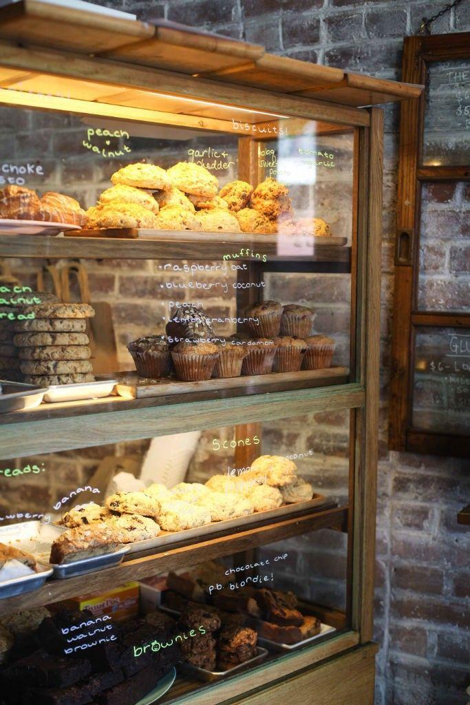 Clementine Bakery / Brooklyn, New York Vegane Sandwiches und Kuchen, guter Kaffee