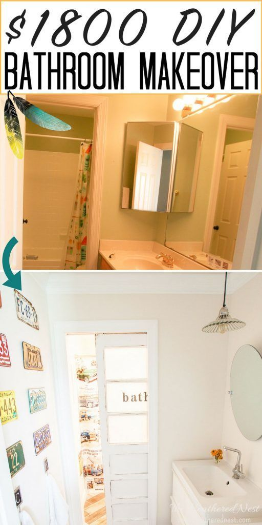 Less Than  Fully Renovated Kids Vintage Transportation Inspired Diy Bathroom Check It Out