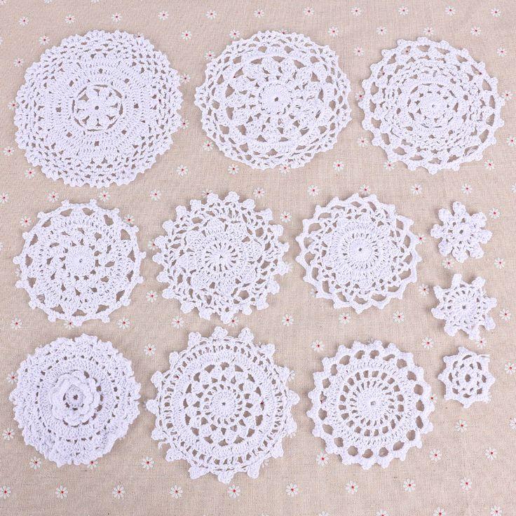 24 x Häkeldeckchen Spitzendeckchen Tischdecke Weiss 100% Handarbeit in Möbel & Wohnen, Hobby & Künstlerbedarf, Häkeln & Stricken | eBay