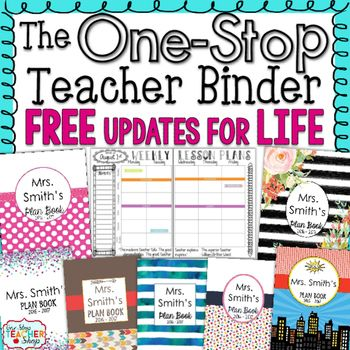 This #1 Selling Teacher Binder is Editable and Customizable!  The One Stop EDITABLE Teacher Binder offers tons of useful forms, dated lesson plans, gorgeous designs, and calendars to use throughout the year. Keep yourself well organized in a stylish way while paying only a fraction of the price of what other trendy teacher planners cost.