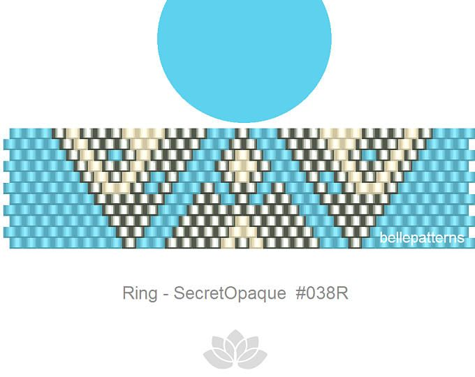 peyote ring pattern,PDF-Download, #038R, beaded ring pattern, beading tutorials, ring pattern