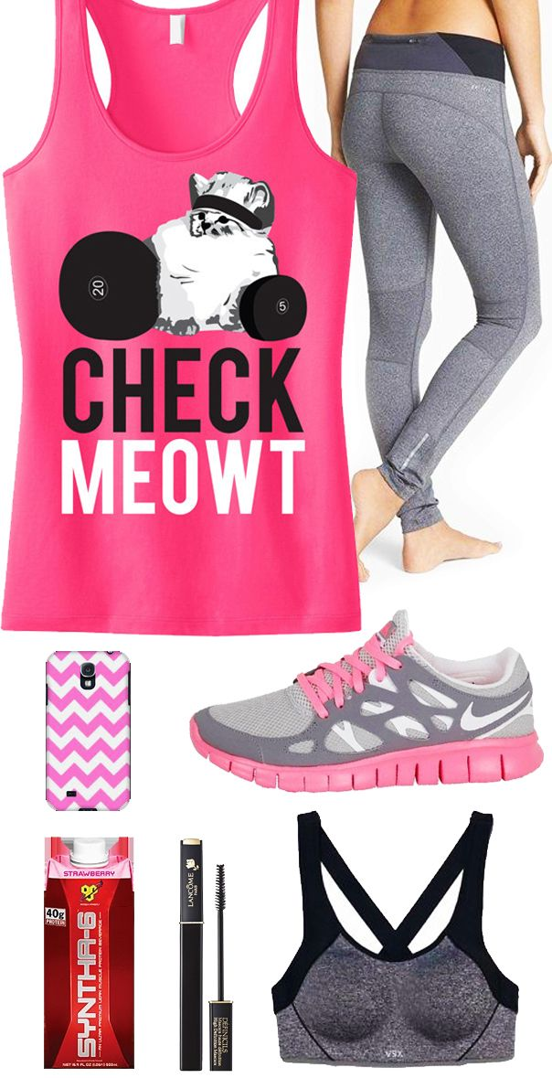Awesome #Workout Tank! Cool #GymGear featuring CHECK MEOWT Pink Workout Tank Top by #NobullWomanApparel, $24.99 on Etsy. Click here to buy, and look good while you train! https://www.etsy.com/listing/178899591/check-meowt-pink-workout-tank-top?ref=listing-shop-header-0