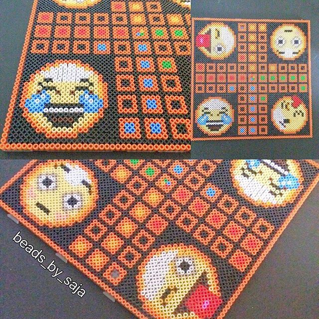 Emoticon ludo board game perler beads by beads_by_saja (Non t'arrabbiare) - 14/03/2016