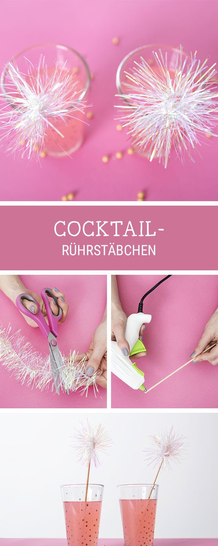 Mehr Glamour für Deine Party mit süßen Cocktail-Rührstäbchen, Partydeko / party decoration: make your cocktails even more fancy via DaWanda.com