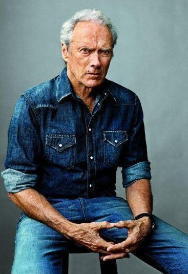 Clint Eastwood double denim for men Inspiration for post on double denim on www.denim.life