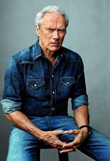Clint Eastwood double denim for men Inspiration for post on double denim on www.denim.life