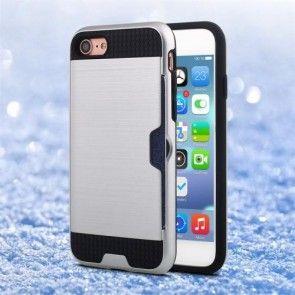 Husa  iPhone 7, Combo Cover, Silicon + PC, Argintiu