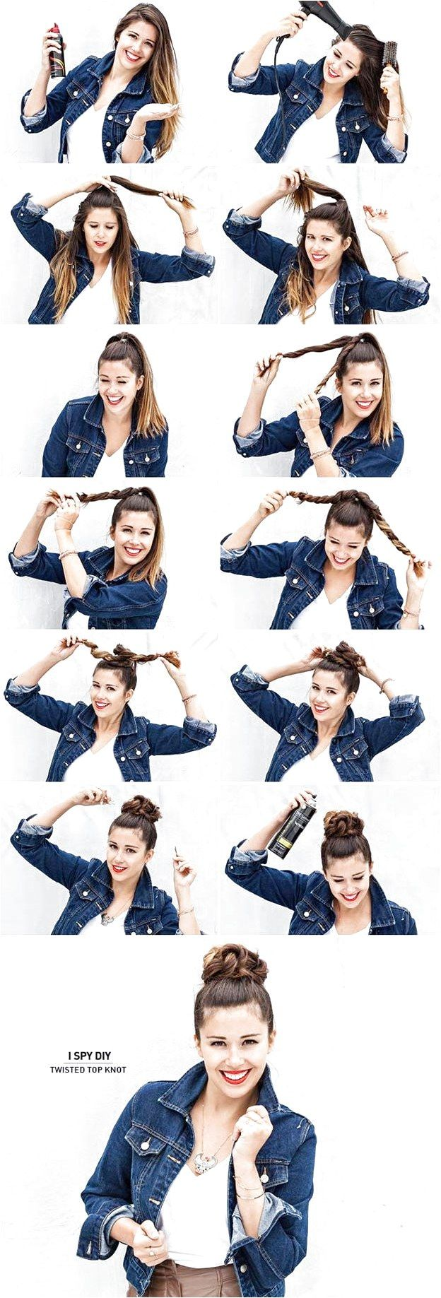 Best Hair Braiding Tutorials - Twisted Top Knot - Easy Step by Step Tutorials for Braids - How To Braid Fishtail, French Braids, Flower Crown, Side Br...