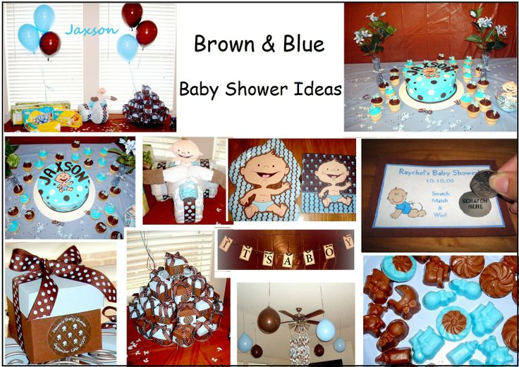 baby shower ideas for boys way brown and blue baby shower ideas