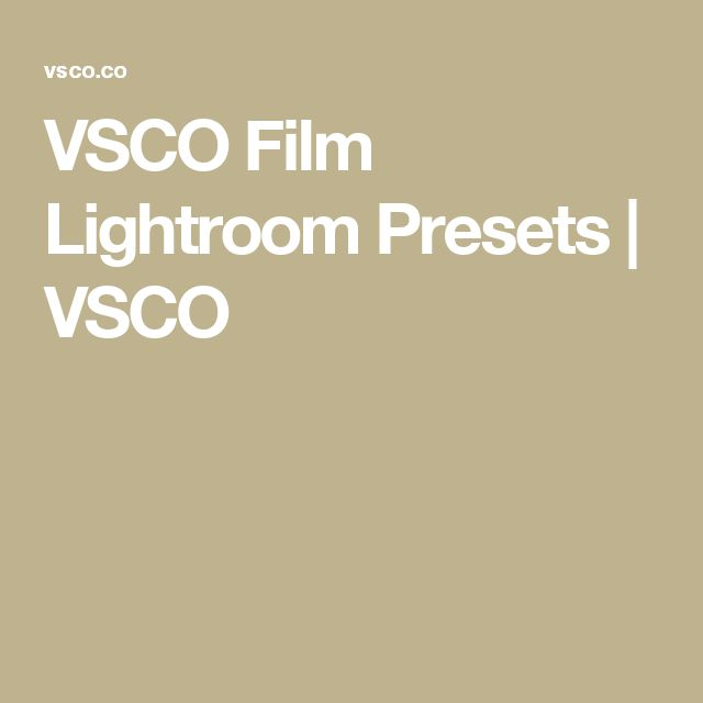 VSCO Film Lightroom Presets | VSCO