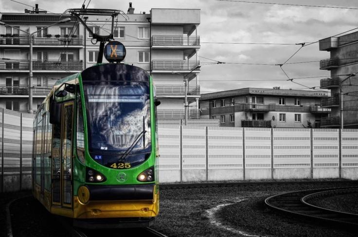 Poznań, tramwaj Moderus Beta #425 - #Poznań, #tramwaj, #tram
