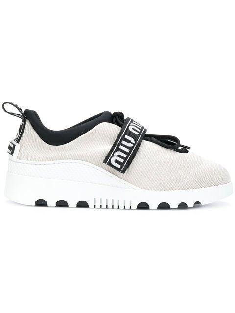71e869b55a7f Shop Miu Miu touch strap sneakers.