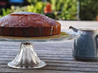 Caramel cake with sea salt from 'The Caker' cookbook by Jordan Rondel