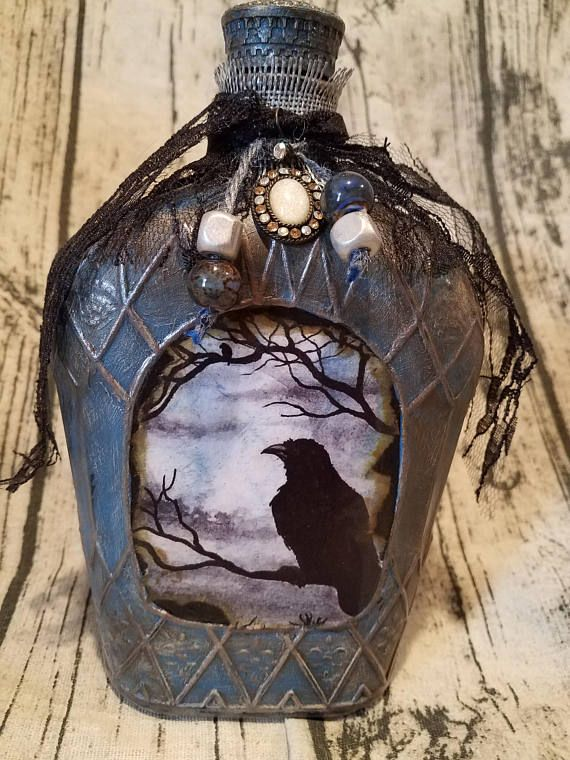 Crown Royal bottle painted/decorated