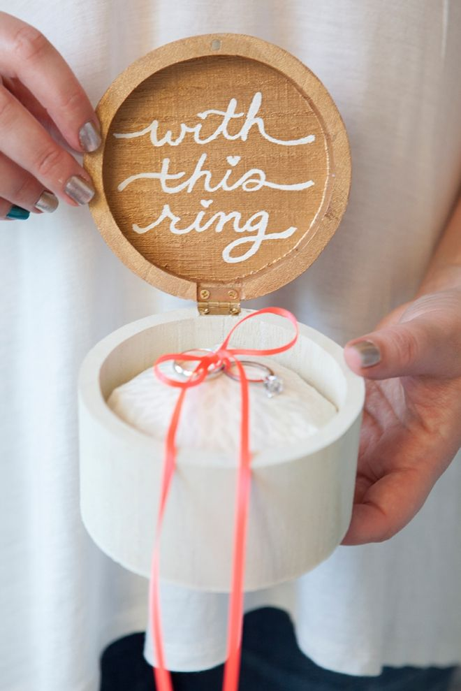 DIY - Wooden ring bearer pillow box #diy #wedding #ideas