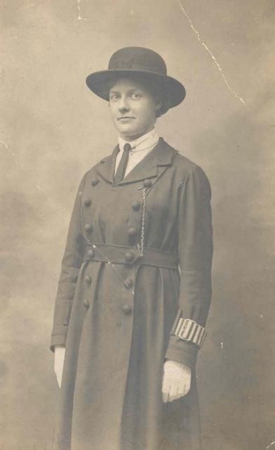 Dora Jordan was employed by the National Union of Women Workers to help Essex with polcing duties at the end of World War I.  Essex Constabulary paid for her uniform. She worked in Romford with one other lady, Mrs Wilson.  Her job was very much like a social worker's today.