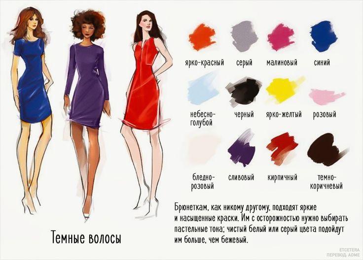 Шпаргалка: 12 прекрасных сочетаний цвета одежды и волос. | Шить просто — Выкройки-Легко.рф