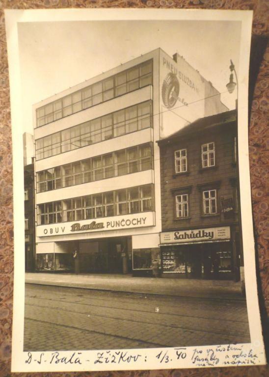 BAŤA ŽIŽKOV - Obchodní dům  1940 !!! orig. foto