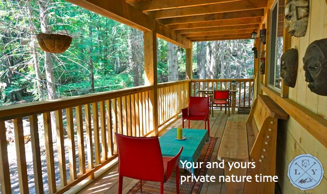 Treat yourself to a relaxing escape in nature with a private luxury cabin tucked away in the forest. Veranda, rustic, privacy, nature, spacious   Logden Lodge