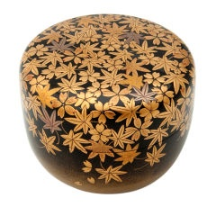 Cherry Blossoms and Maple Leaves Tea Caddy