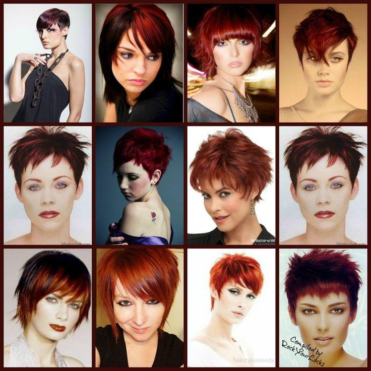 Inspiration for short red hair looks