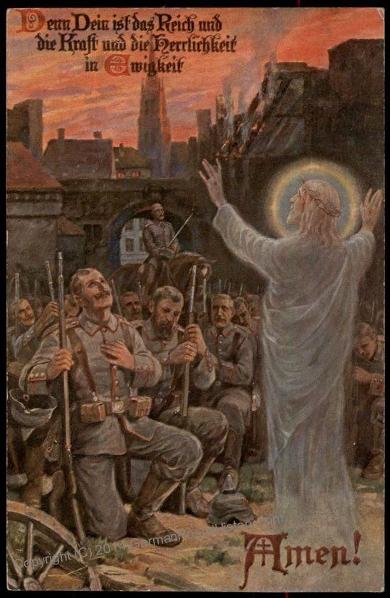 Christ Blessing the Kaiser's Soldiers in 1917 WWI German ...