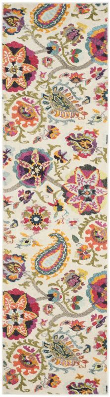 Safavieh MNC229A Monaco Ivory and Multi-Colored Power Loomed Polypropylene Trans