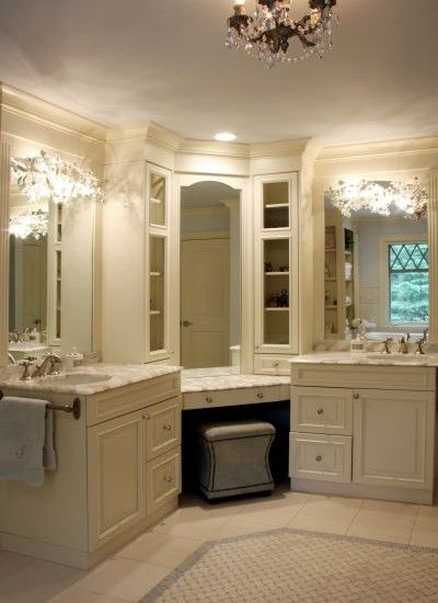 his and her sinks...but HER vanity :)