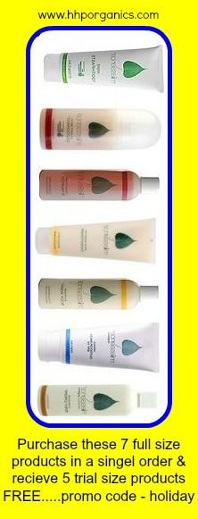 Offer expired...Purchase these 7 full size products - Deodorant, Toothpaste, Shampoo, Shine Herbal Conditioner, Reflect Outdoor Balm, Intensive Body Cream and Sunflower Bodywash - in a single order and receive trial size Mint Toothpaste, Desert Flower Shampoo, Shine Conditioner, Sunflower Body Wash and Intensive Body Cream FREE. Open to Reps and all customers until 29 June (US time).  The promo code you need is: holiday Visit http://www.hhporganics.com to grab this holiday #special.