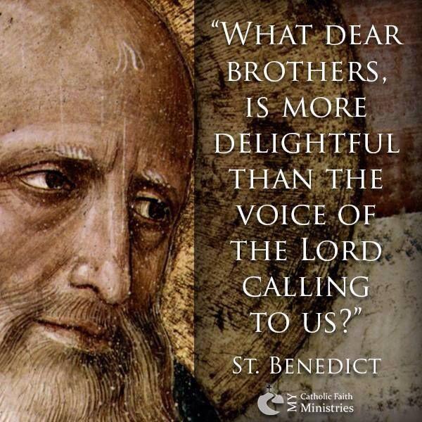 St Benedict Quotes. QuotesGram