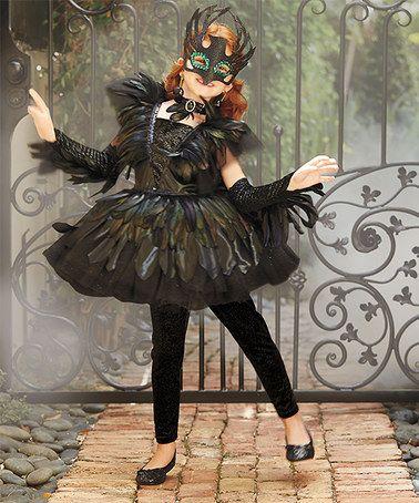 Look at this #zulilyfind! Black Raven Ballerina Dress - Girls by chasing fireflies #zulilyfinds