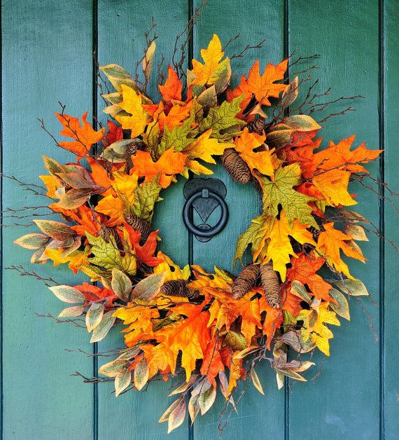 Autumn Flutter  Maple Beech and Cone Fall door WillowgaleDesigns